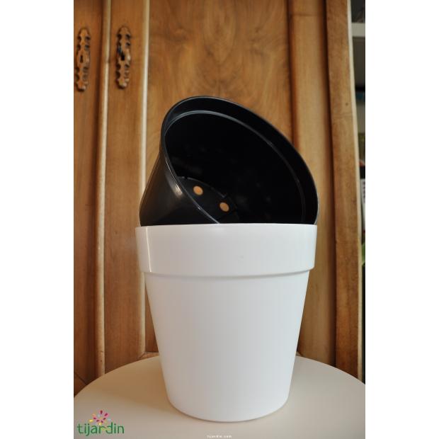 Pot 7.5L+ Cache pot couleur 11L