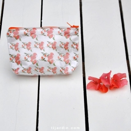 Trousse Happiness Tissu bougainvillier