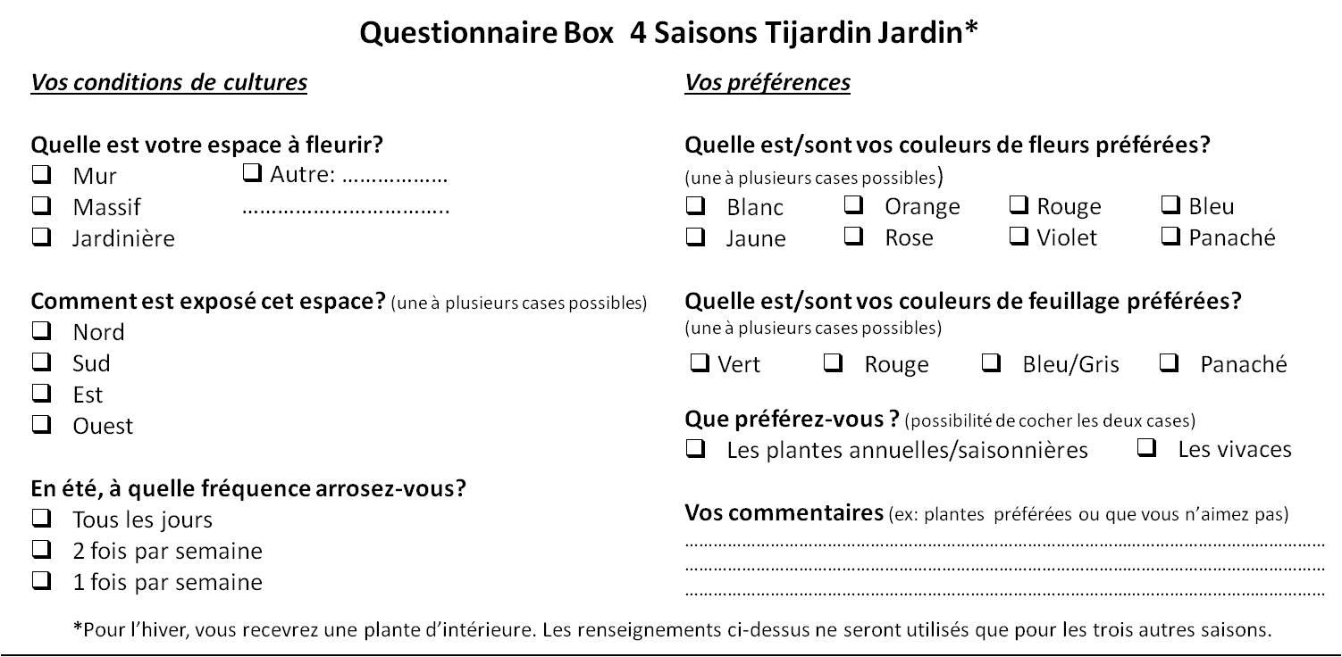 Exemple de questionnaire